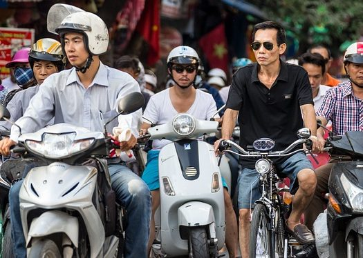 motorbikes in hanoi - travel treasures